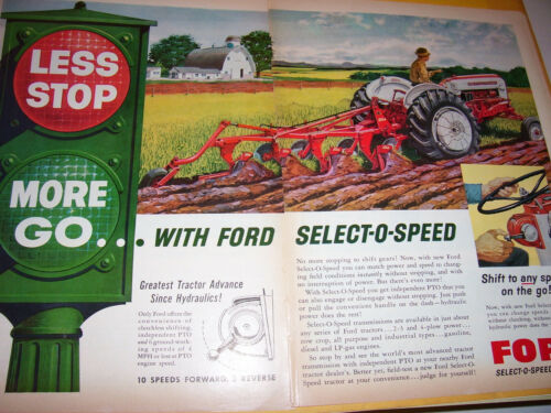 VINTAGE FORD TRACTOR ADVERTISING -971  SELECT O SPEED TRACTORS- 1959