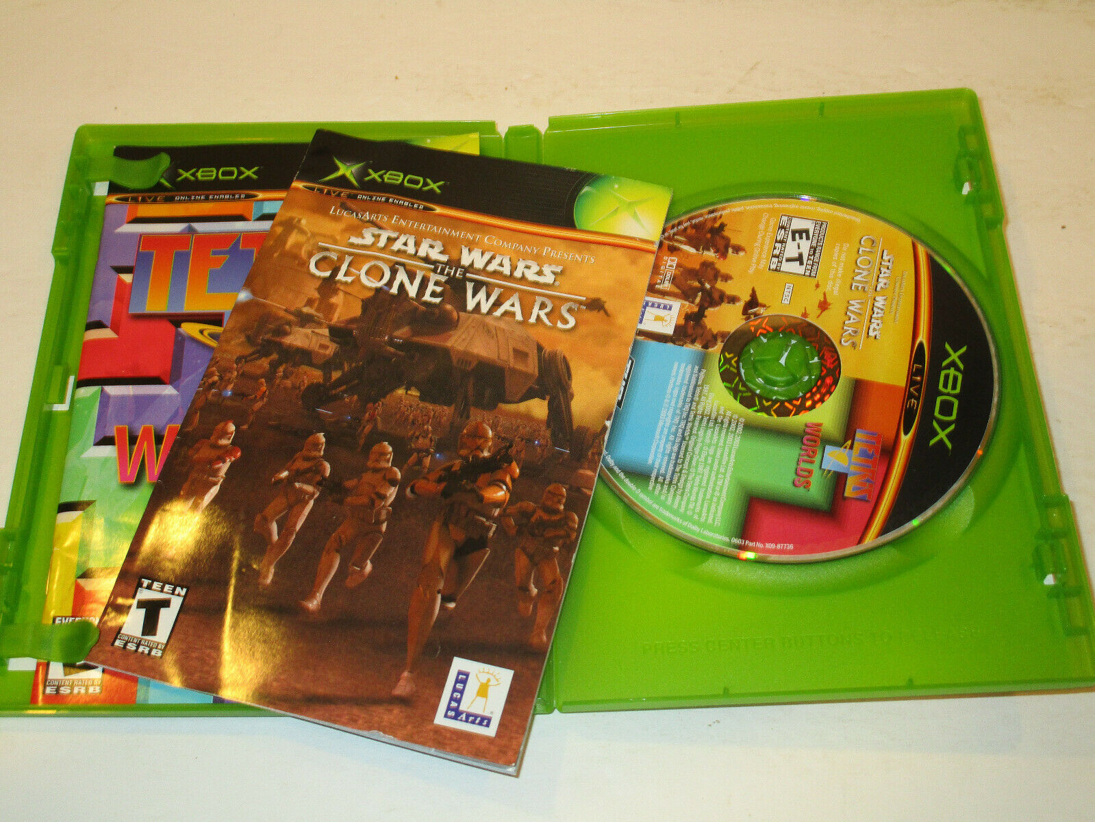 Star Wars Clone Wars / Tetris For Original Xbox Very Good Condtion With Manual  - $8.95