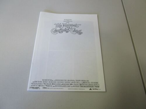 MOVIE PRESS KIT THE MUPPET CHRISTMAS CAROL  MOVIE PHOTO WITH BOOKLET INFO