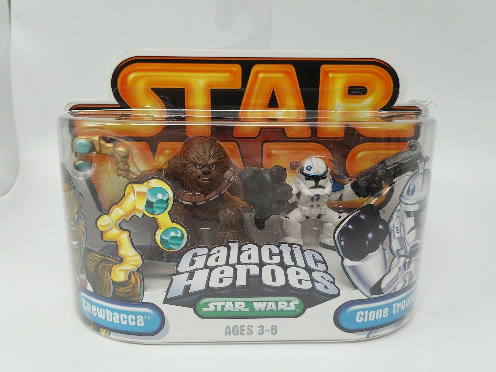 Star Wars Galactic Heroes Chewbacca and Clone Trooper 2 Pack - Factory Sealed