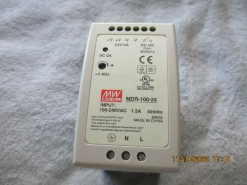 MEANWELL MDR-100-24 24 VOLT 4 AMP DIN POWER SUPPLY