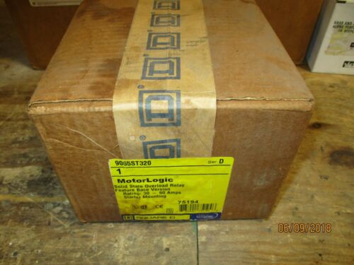 SQUARE D, 9065ST320, MOTOR LOGIC, SOLID STATE OVERLOAD RELAY, BRAND NEW!
