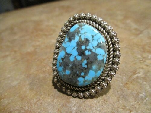 EXTRA FINE  Navajo Sterling Silver Premium BISBEE Turquoise Ring   Size 7.25