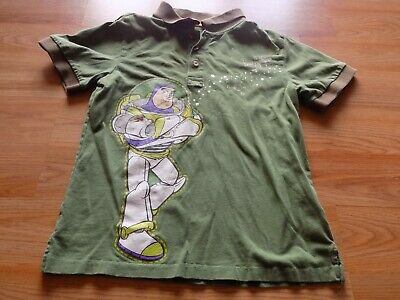 Boys Size Medium 7-8 Disney Store Buzz Lightyear Green Polo Short Sleeve Shirt (Polo Kids Store)
