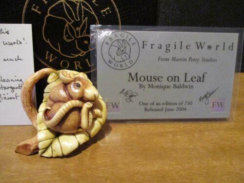 Harmony Kingdom MPs Fragile World Mouse on Leaf UK Made Marble Resin Figurine