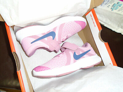 Girls NIKE Revolution 4 Trainers Size 11.5 Pink Casual Brand new in box