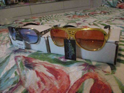Elvis Presley Sunglasses (2) New with Metal Arms  EP TCB Logo