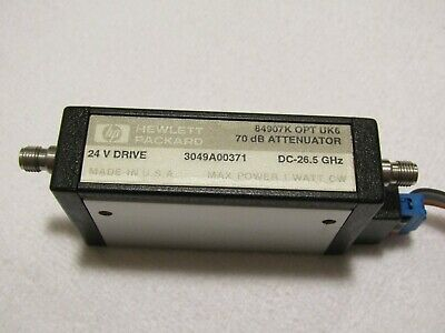 Hp 84907k Programmable Step Attenuator Dc To 26.5 Ghz 70db Opt Uk6
