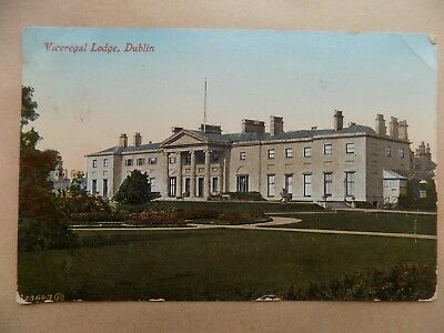 Old Posted Postcard 1917 Viceregal Lodge Dublin Ireland a
