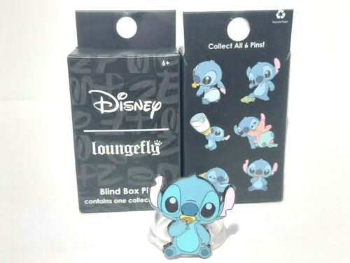 Lilo & Baby Stitch Sitting with Pacifier Loungefly Mystery Blind Box Pin Disney
