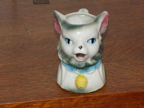 Vintage Cat Ceramic Creamer Pitcher