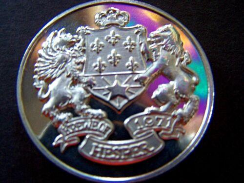 Rare 1975 Hesper GREATEST MUSIC OF THE PAST .999 Fine Silver Mardi Gras Doubloon