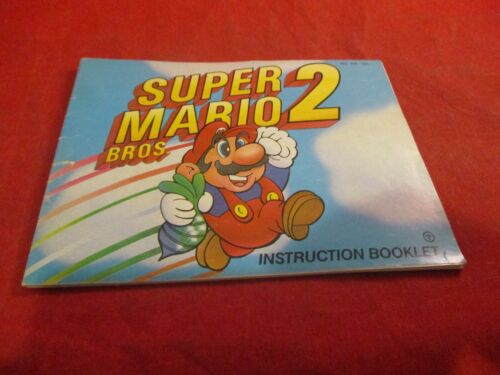 Super Mario Bros. 2 Nintendo NES Instruction Manual Booklet ONLY #D1