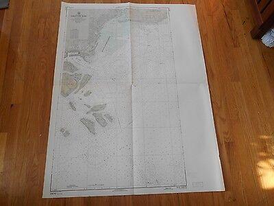 LARGE MAP SINGAPORE SOUTH CHINA SE ROAD PU BLAKANG MATI NAUTICAL CHART