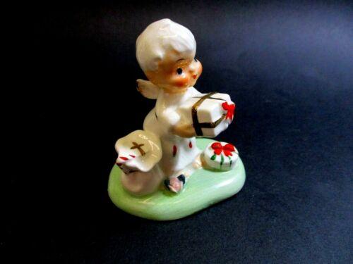 Vintage Napco Porcelain Itsy Bitsy Miniature Christmas Angel Figurine # S-1271A