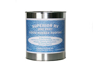 Rubber RV Roof Leak Sealant & Coating Camper Trailer 1 Gallon 15 Year Guarantee