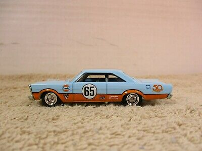 HOT WHEELS ~ 1/64 ~ LOOSE ~ 50 FAVORITES ~ GULF '65 FORD GALAXIE 500