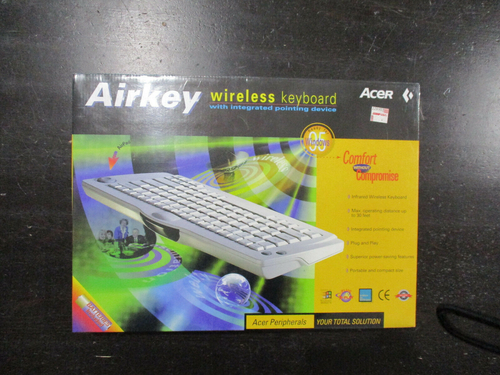 NEW Acer Airkey Infrared Wireless Keyboard Integrated Pointi