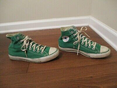 Used Worn Size 8 Fit Like 8.5-9 Converse Chuck Taylor All Star Hi Shoes Green