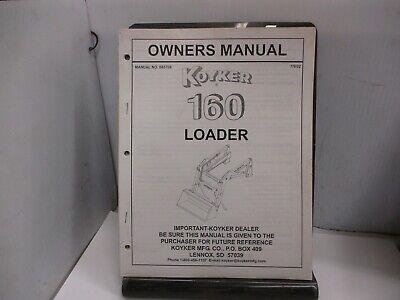 Koyker 160 Loader Owners Manual