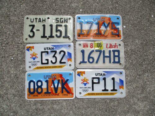 6 Utah small  license plates