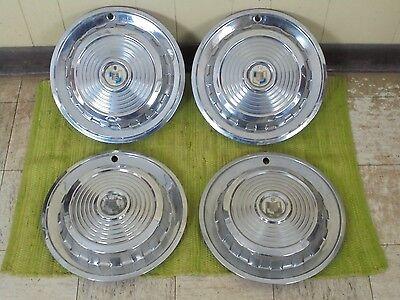 "1958 Mercury HUB CAPS 14"" Set of 4 Wheel Covers 58 Hubcaps"