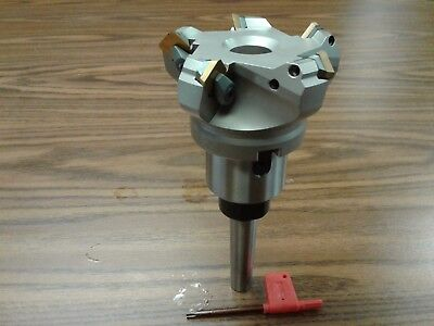 3 45 Degree Indexable Face Shell Mill W. Mt2 Arbor Face Milling Cutter-new