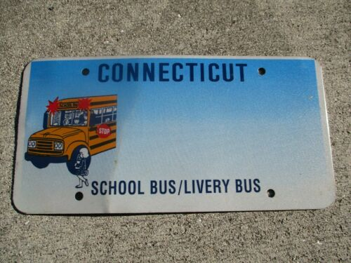 Connecticut School Bus / Livery Bus  Blank license plate