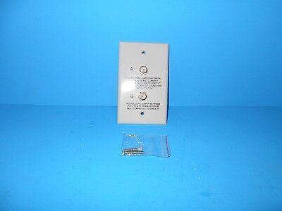 *RV TV WALL PLATE DUAL HOOKUP WHITE A/B FREE SHIPPING Dual Tv Wall Plate