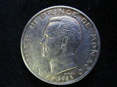 "Monaco: 5 Francs ""Rainier III."" 1966"