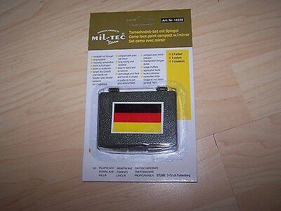 Gold Tarnung (Miltec Tarnschminkset  schwarz rot gold  Fan-Schminke Fussball WM  etc.)