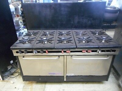 10 Burner Gas Range With Double Ovens Southbend Refurbished A Condition