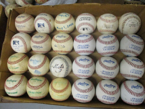 24 Used Baseballs - Assorted Brands - Very Good to Excellent Condition