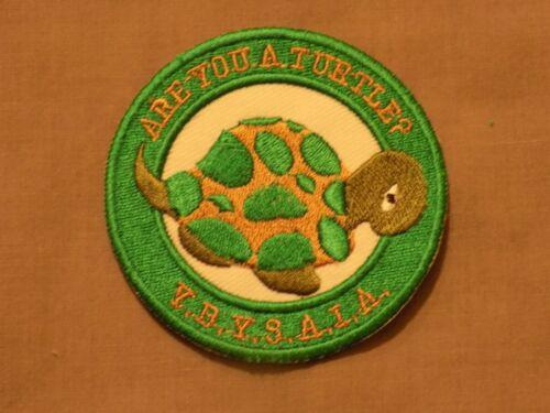 "Masonic 3"" Patch Iron Sew On Turtle YBYSAIA Green Freemason Fraternity NEW!"