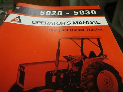 Allis Chalmers 5020 5030 Compact Diesel Tractor Operators Manual