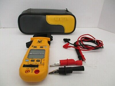 Excellent Uei Ch1 Clamp On Meter Phoenix Ii - Dl279 Working Tested Probes Case