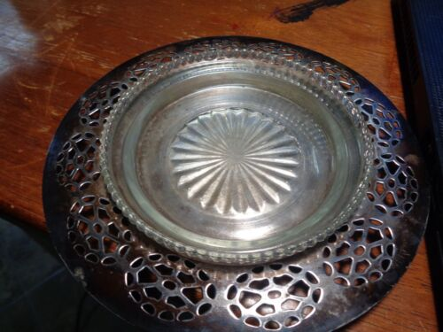 Small W.M. Rogers Silverplate Ashtray 8327