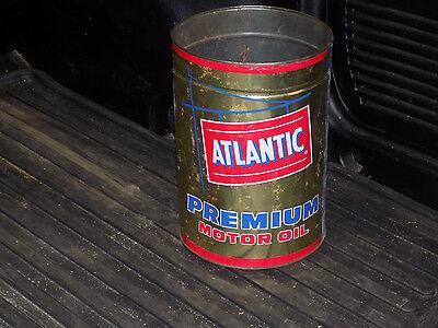 Atlantic Premium Motor Oil 5 Quart Empty Can with no top
