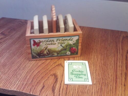 MINT UNUSED BROWN BAG GARDEN FRIENDS COOKIE STAMPING STAMP TILES W/RECIPES