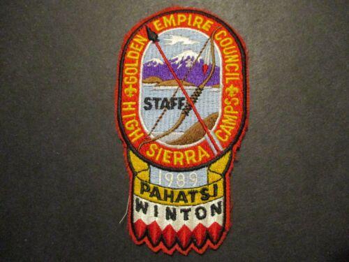 1989 Golden Empire Council High Sierra Camps boy scout camp patch