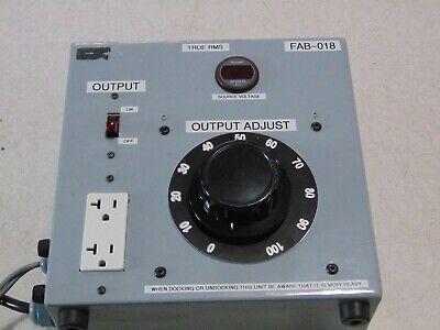 Variable Voltage Transformer Variac Autotransformer 0-140 Volt 1 Phase