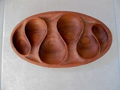 Carved out of solid wood tray 1960/70's