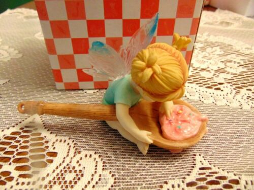 "2003 Enesco My Little Kitchen Fairie "" Taste Tester Fairie "" IOB"