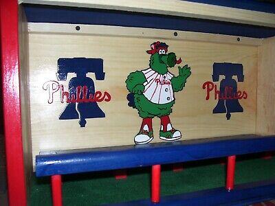 Phillies Bobble Head Display Case the Phanatic & Liberty Bel
