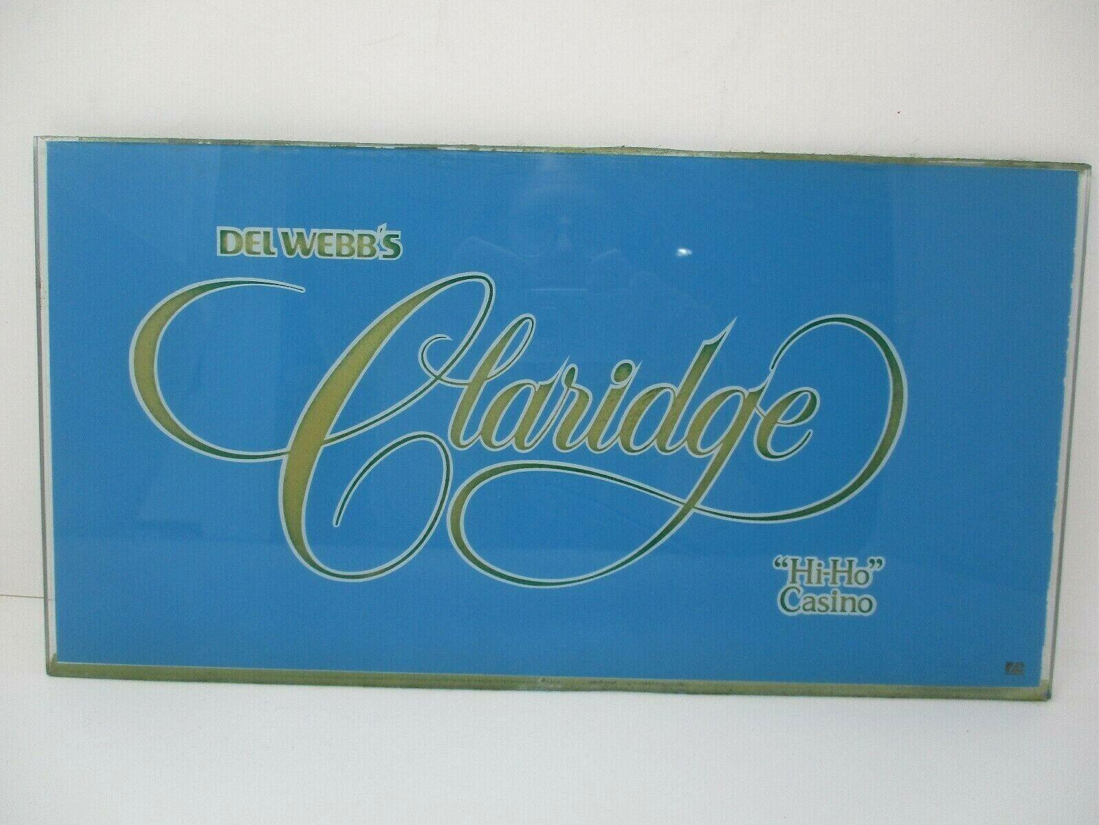 Claridge Hi-Ho Casino Retired Atlantic City Glass Slot Machine Front Face Plate