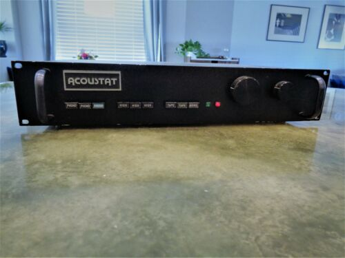 Vintage Ultra Rare Acoustat RP-2 Reference PreAmplifier Rack Mount USA Repair
