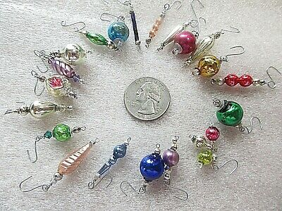18 MERCURY GLASS BEAD ORNAMENTS= FEATHER TREE= CHRISTMAS= SHAPES & COLORS ()