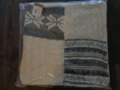Pottery barn SWEATER PATCHWORK PILLOW COVER- 18