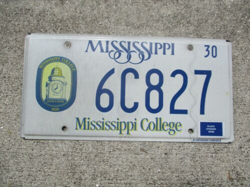 Mississippi College license plate  #  6C827