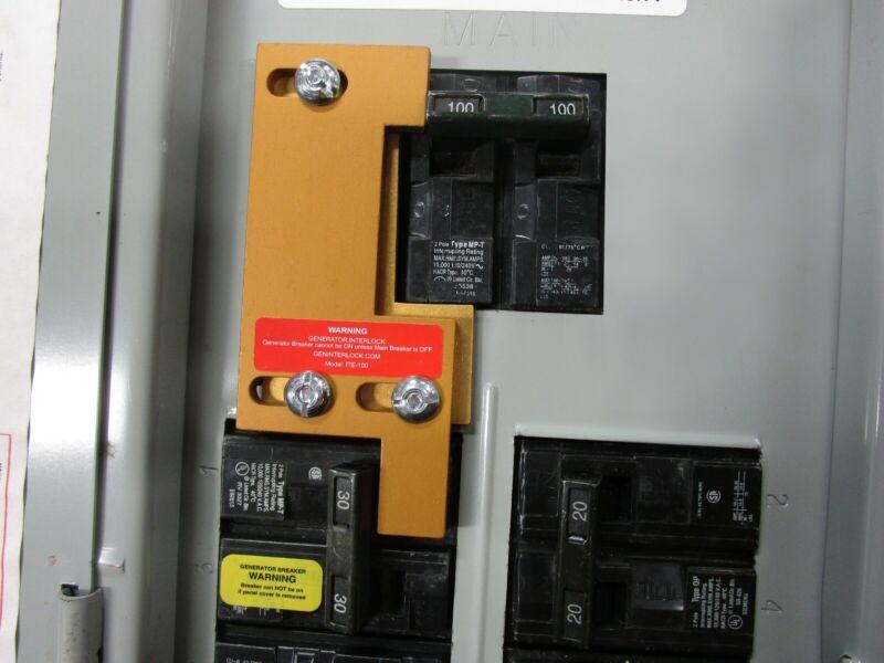 ITE-100 Gould or ITE Generator interlock kit 100 Amp Panels